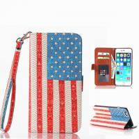 """Cheap USA Flag Pattern Book Flip Leather Case With Credit Card Slot For Iphone 6 Plus(5.5"""") for sale"""
