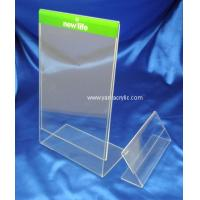 Cheap L Shape Acrylic Sign Holder Clear Back Loading Acrylic Sign Holder for sale
