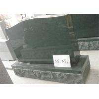 China Traditional Gravestones And Monuments , Upright Granite Headstones For Graves on sale