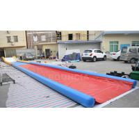 Cheap 27m Long Air Sealed Inflatable Water Slides For Lakeside / Inflatable Slip N Slide for sale