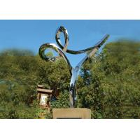 Cheap Professional Stainless Steel Outdoor Sculpture , Stainless Steel Art Sculptures for sale