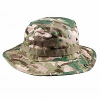 Cheap Fishing Hunting Tactical Boonie Hat / Military Camo Bucket Hat With String for sale