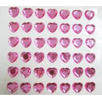 Cheap loose rhinestone sticker single pink heart sticker for mobile phone decor for sale