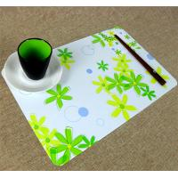 Cheap Large Executive Custom Desk Pad Office Desk Mats With Flower Printed for sale