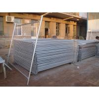 Cheap 1800mm height x 2400mm width temp fence panels od 32 pipes full hdg temp fencing site fencing 42microns hdg before weld for sale