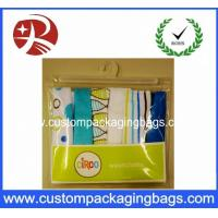 Buy cheap Super Clear Soft plastic PVC Hook Bag / Slider Zipper PVC Hanger Bag For Clothing from wholesalers