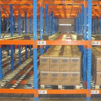 Cheap Warehouse Inventory Pallet Live Racking Steel Material Customized Color for sale