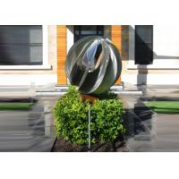 Cheap Attractive Stainless Steel Sphere Sculpture / Contemporary Steel Sculpture for sale