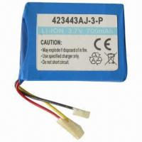 Cheap Li-ion Rechargeable Battery, 3.7V Voltage, 700mAh Capacity for sale