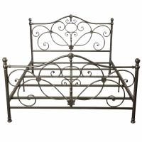Cheap Bedroom Antique Antique Wrought Iron Bed Frame ,  Metal Furniture Bed for sale