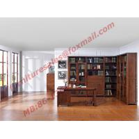 Cheap Solid Wooden with Glass Door Material Bookcase Set  for Living Room Furniture for sale