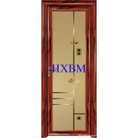 Quality Single Glazed Frosted Glass Interior Door , Custom Color Modern Interior Doors wholesale