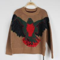 Anti pilling jacquard sweaters for young ladies knitted eagle pattern