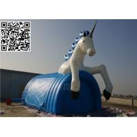 Cheap Windproof Inflatable Event Tent , Blue PVC Tarpaulin Cartoon Horse Tent for sale