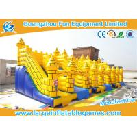 China Durable Yellow Commercial Inflatable Slide Inflatable Castle Slide For Playing on sale