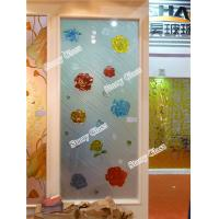 Cheap Engraved Painted Glass Partition for sale