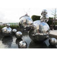 Buy cheap Custom Made Mirror Polished Modern Stainless Steel Sculpture 316 Hollow Ball from wholesalers