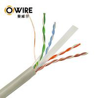 Cheap Custom Bulk Cat6 Patch Cables , 305m 23awg Pass Fluke Test Ethernet Lan Cable Cat6 for sale