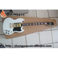 ShengQue SG Model Electric Guitar White Color Guitars With Rosewood Fingerboard Manufactures