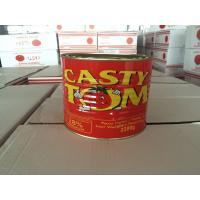 Cheap canned tomato paste 2200g with tin packing tomato sauce tomato ketchup double concentrate for sale