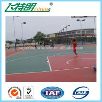 Outdoor Silicon PU Sports Flooring Stable Tennis Court Surfacing Materials