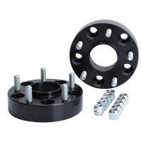 Cheap 78.3mm Center Bore 5x5 To 5x5 Wheel Spacers Cnc Wheel Spacers Black Color for sale