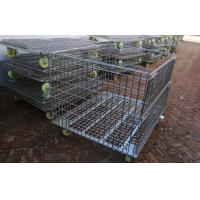 Cheap Warehouse Other Material Handling Equipment / Stacking Steel Wire Mesh Storage Cages for sale