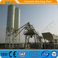 Cheap ECO Friendly 180m3/h HZS180 Stationary Batching Plant for sale
