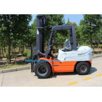 Cheap 3 Stage 6m Mast Diesel Forklift Truck With Fork Posioner / Side Shift 1200 Long Fork Type for sale