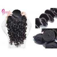 Cheap Virgin Loose Curl Weave Hair Bundles With Frontal Double Drawn Smooth And Soft for sale