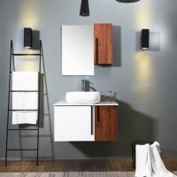 Cheap White Wood Color Bath Vanity With Top , Eco Friendly Traditional Bathroom Vanity for sale