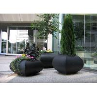 Cheap Professional Large Stainless Steel Planters For Building / Public Decoration for sale