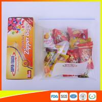 Resealable Clear Ziplock Snack Bags For Food Packaging Eco Friendly