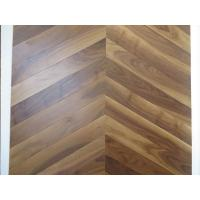 Cheap American walnut Chervon parquet flooring, Chervon walnut wooden floors, special 45 degree angel for sale