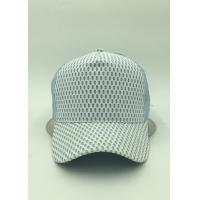Cheap Light Blue Mesh Pre Curved Baseball Caps Adjustable Strap For Hiking for sale