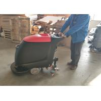 Cheap Portable Walk Behind Concrete Floor Scrubber With 45L Recovery Tank No Residue for sale