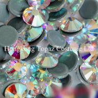 Cheap top quality clear ab hot fix crystal strass preciosa crystal stone for clothing for sale