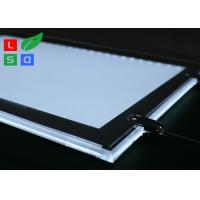 Cheap Removable LED Light Box For Crystals , Magnetic Cover LED Slim Crystal Frame Light Box for sale