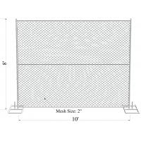 """Cheap 8' x 10' """"Great Wall"""" temporary chain link fence panels 11.5ga wire 60mm x 60mm for sale"""