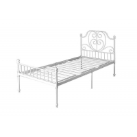 Cheap 120kg Kids Single Bed Steel Frame With Headboard And Footboard for sale