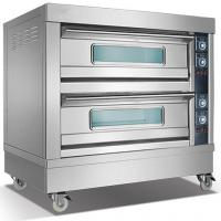 Cheap 2 Deck 4 Pan Baker Electric Oven Commercial Electric Bread Oven Frees Tanding for sale