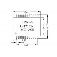 Buy cheap 30FB-26NL Module Single Port 1:1 10/100Base-TX Lan Transformer 24Pin LP42403NL from wholesalers