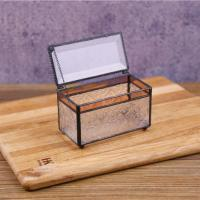 China Rectangular Glass Jewellery Boxes Wedding Flower Boxes Jewellery Storage Boxes on sale