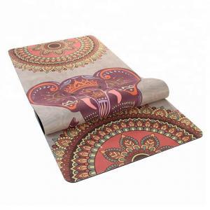 Cheap Non - Slip Durable Rubber Sheet Roll Suede Women Beginners Yoga Mat for sale