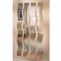 Cheap Long Wave / S - Shaped Processed Mirror Glass 3mm For Vestibule , Art Deco Mirror for sale