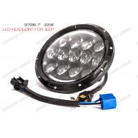 Cheap OSRAM LED Chip Jeep LED Headlights 105W Hi / Lo Beam 6000K With Turn / DRL for sale