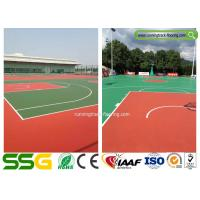 Cheap Multifunctional Silicon PU Sport Court Flooring for Badminton / Tennis for sale