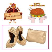 Cheap Very Comfortable and Easy to Store in a Purse Colorful Foldable Ballet Shoe for Thanksgiving Day Gift for sale