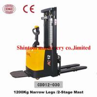 Buy cheap 1.2T CURTIS 1230 Electric Pallet Stacker With 1270mm Wheel Base And Narrow Legs from wholesalers