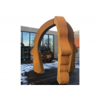 Buy cheap Large Public Decorative Corten Steel Face Sculpture for Outdoor from wholesalers